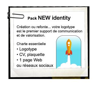 Pack NEW identity – 1 projet = 1 Identité Visuelle